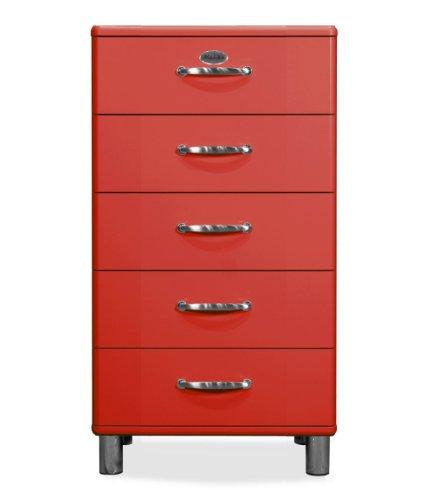 TENZO 5215-027 Malibu - Designer Kommode, MDF lackiert, 111 x 60 x 41 cm, rot