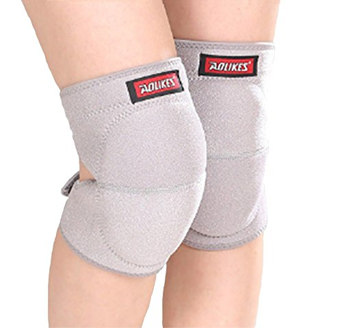 Eternal Wings Knee Pads Knee Pads Knee Pads Knee Protectors for Work Use with Wetsuit Material to Keep You Wet for Skateboarding, Biking, Knee Works, 2 Pack 4 Colors (Gray, Large)