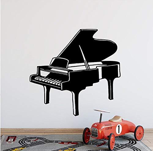 Muurstickers moderne muziek Piano Home Decoraties Woonkamer Bedrijf School Office Decoratie Vinyl Art Decals 43X44 cm