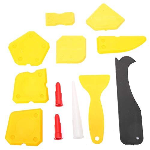 Herramienta de calafateo roja y amarilla, ecológica, no tóxica, raspador, aplicación amplia de alta eficiencia para calafatear selladores domésticos(yellow)