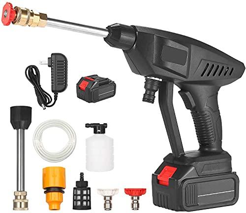 LVLUOKJ Lavadora a presión eléctrica inalámbrica, portátil de 30 Bares / 435 PSI hidrolavadora para automóvil, Limpiador de Patio con generador de Espuma y batería de Litio (Color : 21v)