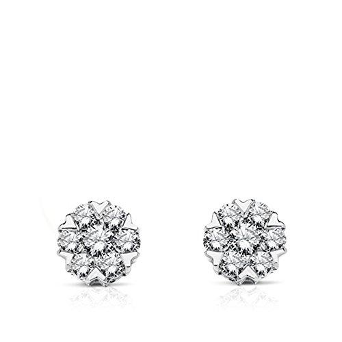 Pendientes Daisy Diamantes 0.270 Qtes. Oro blanco 18 Ktes