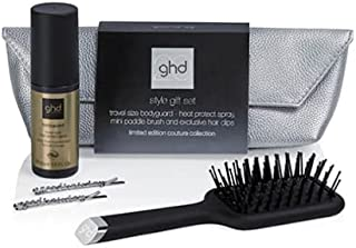 GHD STYLE GIFT SET contiene MINI PADDLE BRUSH HEAT PROTECT SPRAY AND EXCLUSIVE HAIR CLIPS