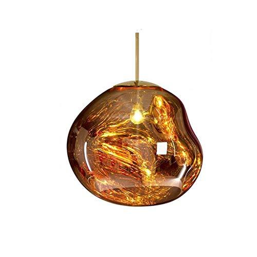HLY Luces simples, vidrio para lámpara de luz - Diseño simple Restaurante Bar Café Lámpara de cabeza única, Color: A,C