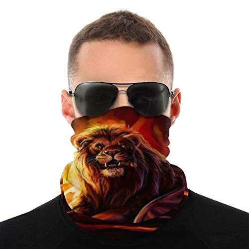 Yuanmeiju Cool Fire Lion,Men/Women Handscarf,Elastic Sweatband,Unisex Masque de protection,Breathable Neck Warmer,Multifunctional Headkerchief,Outdoor Headbands,Cache-cou
