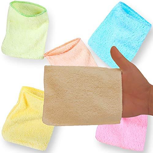 5 gants de change lavables - Matière - Bambou Couleur