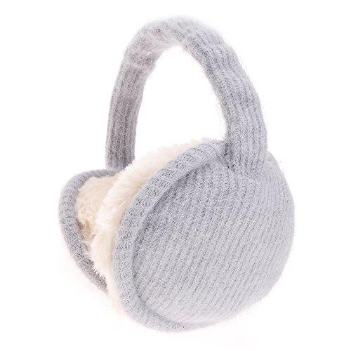 ZLYC Neue Winterzubehör Verstellbarer Ohrenschützer Ohrenwärmer Zusammenklappbar Outdoor Earmuffs Unisex Für Damen Herren, Grau, M