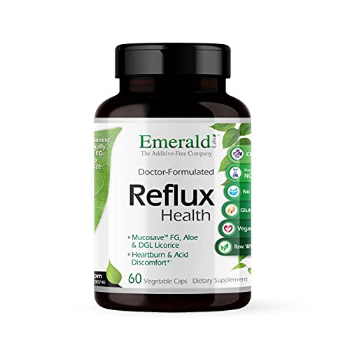 Emerald Labs Reflux Health - Acid Reflux Support Supplement with Mucosave FG, Aloe, and DGL Licorice - All Natural Ingredients, Doctor-Formulated - 60 Vegetable Capsules