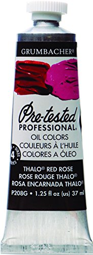 Grumbacher Pre-Tested Oil Paint, 37ml/1.25 Ounce, Thalo Red Rose (P208G)
