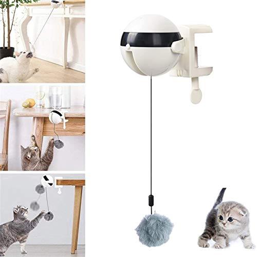 Ewqiqi Elektrisches automatisches Heben Cat Ball Toy Interaktives Puzzle Smart Pet Cat Ball Teaser Spielzeug Pet Supply Lifting Balls Electric