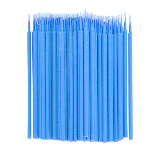 200 Pcs Greffé Cils écouvillon Coton-tige Bâton Micro Applicateurs Maquillage Brosse Cosmétique Maquillage Brosse Outils Kits(Bleu)