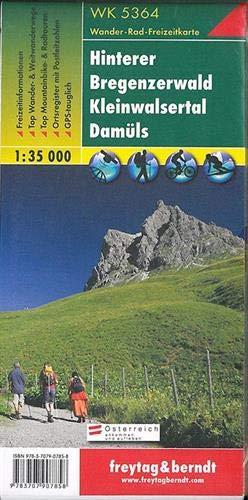 Hinterer Bregenzerwald - Kleines Walsertal - Damüls, Wanderkarte 1:35.000, WK 5364, freytag & berndt Wander-Rad-Freizeitkarten: Wandel- en fietskaart 1:35 000