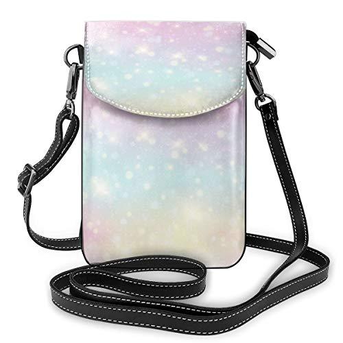 Kleine Damen-Handtasche mit verstellbarem Riemen, Pastellfarben