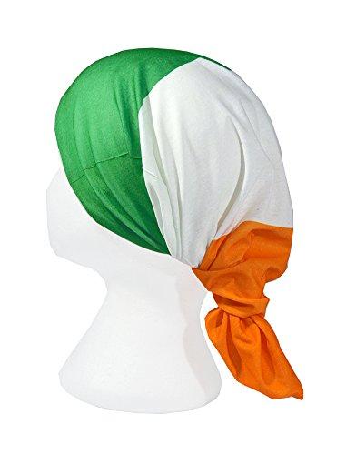 FLAG OF IRELAND/ IRISH TRICOLOUR FLAG / Trídhathach na hÉireann - RUFFNEK Multifunctional Headwear Neck warmer scarf /Face mask