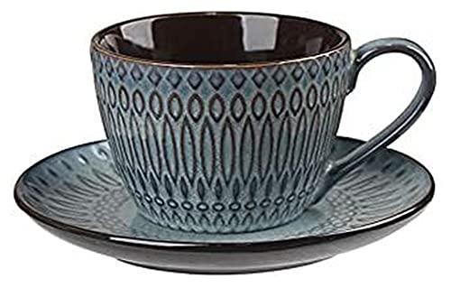 Tazas de cerámica Taza de café Taza de café Conjunto de tazas Cerámica Tazas de café Sencillez Tazas de café europeas de la simplicidad Adecuados para la taza de la flor de la taza de té Tienda de té
