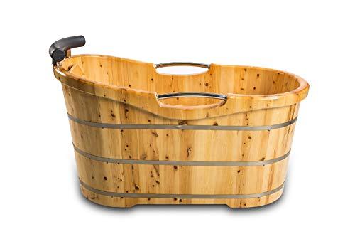 XXL Luxus freistehende Holz-Badewanne Holzbadewanne Tauchbecken Holzwanne