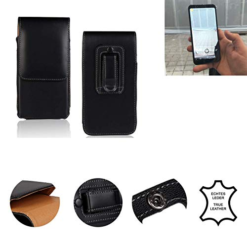 K-S-Trade® Holster Gürtel Tasche Für Energizer Powermax P600S Handy Hülle Leder Schwarz, 1x