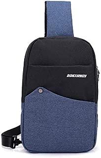 YXHM AU Fashion Color Chest Bag Unisex Oxford Cloth Small Bag Wear Shoulder Bag Shoulder Bag (Color : Blue)