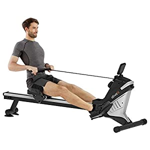 ATIVAFIT Magnetic Rower Rowing Machine 8 LevelAdjustable ResistanceExerciseforWholeBody with LCD Monitor for Home Use Folding Magnetic Rower