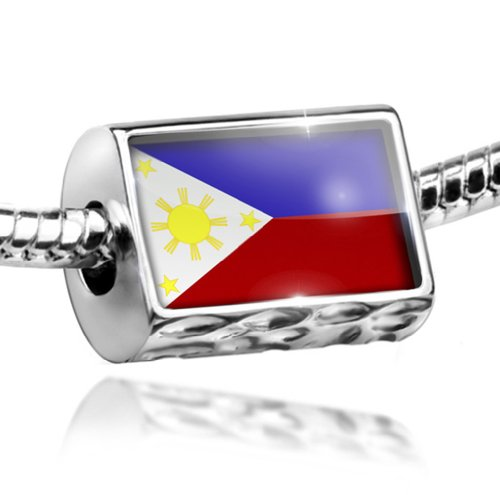 NEONBLOND Charm Philippine Flag - Bead Fit All European Bracelets