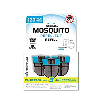 Thermacell Rechargeable Mosquito Repeller 120-Hr Refill Pack  Contains Three 40-Hr Refills  Advanced Formula Provides 20' Protection Zone  Compatible with Thermacell E-Series & Radius Only