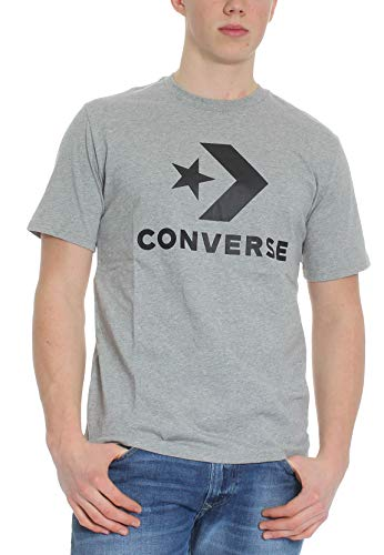 Converse T-Shirt Herren Star Chevron Tee 10018568 035 Grau, Größe:M