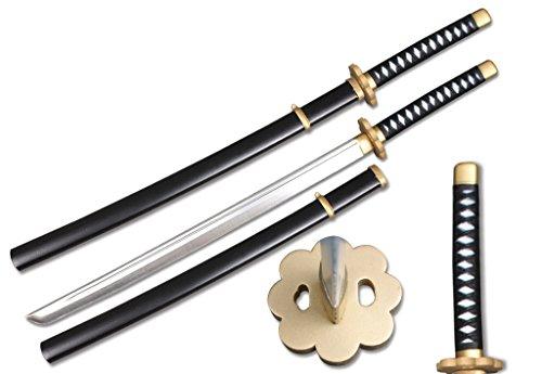 SparkFoam 39' Foam Samurai Sword + Plastic Scabbard Bundle (Flower Guard w/Black Handle)