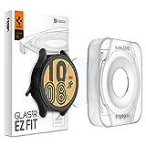 Spigen Glas.tR EZ Fit Vetro Temperato compatibile con Samsung Galaxy Watch 4 44mm, 2 Pezzi, Installazione Facile, Cristallino, Anti-graffio, Durezza 9H Pellicola prottetiva
