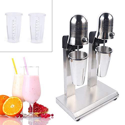 Commercial Electric Milkshake Maker 560W 2 Speed Adjustable Double Head Drink Mixer Shake Machine Smoothie Milk Foam Mixer Blender