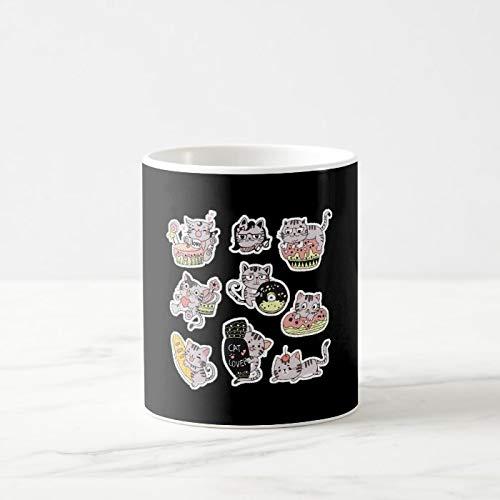 Taza de café divertida, diseño de gatos Potter, taza de café, taza de café de 325 ml, taza de té o café, taza de café, regalo para mujeres y hombres