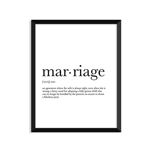 Amazon Com Marriage Definition Unframed Art Print Poster Or Greeting Card Handmade