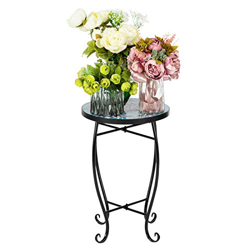 GEFUHONG - Tavolino da salotto con mosaico per giardino, balcone, tavolo da pranzo rotondo per la...