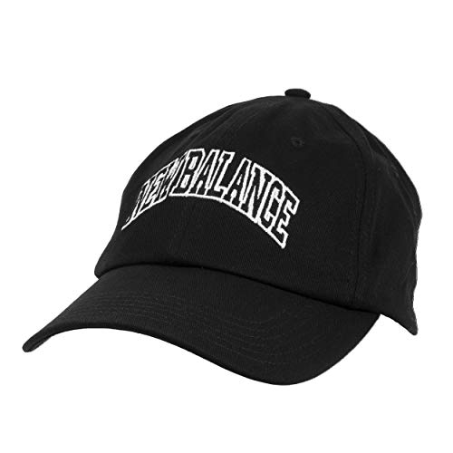 New Balance Men's and Women's Logo 6-Panel Curved Brim Hat, Black, One Size