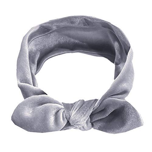 Amphia - Kinder Mädchen Baby Turban Festes Stirnband Haar Verknotet Pleuche Zubehör Headwear - Umfang: 37 cm / 18,5', Breite: 6 cm / 2,3 ''