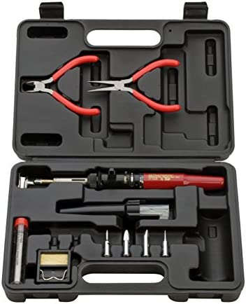 Master Appliance Ultratorch UT-100SiK Butane Powered Soldering Iron, Flameless Heat Tool and Pinpoint Torch, 3 in 1 Tool with Metal Case