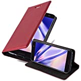 Cadorabo Book Case works with HTC 10 (One M10) in APPLE RED