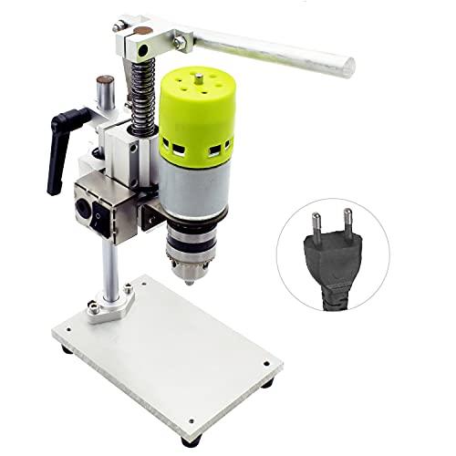 Mini taladro de 7 velocidades, banco de prensa, banco eléctrico, taladro, mandril, 1,5-10 mm, 100 W, taladro de banco pequeño, bricolaje, aluminio puro, taladro de banco pequeño, alta precisión