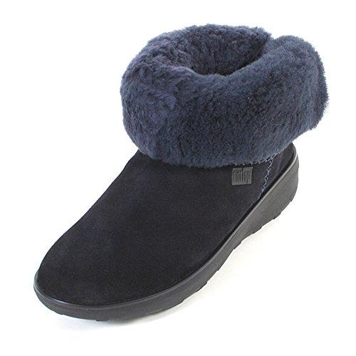 Fitflop Damen Mukluk Shorty 2 Boots Kurzschaft Stiefel, Blau (Supernavy), 36 EU
