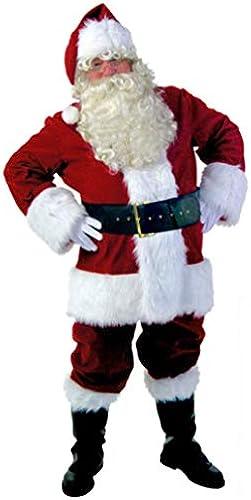 WFTD Christmas Santa Klaus Kostümkugel Herren-Kleidung Erwachsene cos Plant Kaschmir 10 Piece Kit
