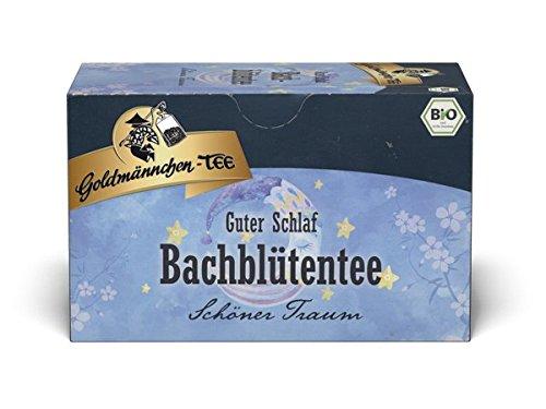 Goldmännchen Bachblüten Tee Blütenkraft Guter Schlaf , 20 einzeln versiegelte Teebeutel, 9er Pack (9x 40 g)