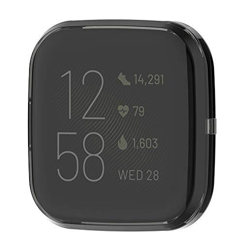 Fiaoen Ultradünne Weiche Silikonhülle Schutzhülle Für Fitbit Versa 2 Smart Uhr, Volle Abdeckung Schutzhülle up-to-date