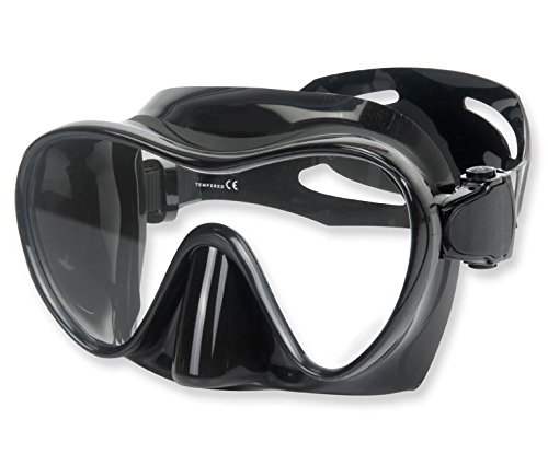 Phantom Aquatics Frameless Mask with Adjustable Neoprene Mask Strap, Black