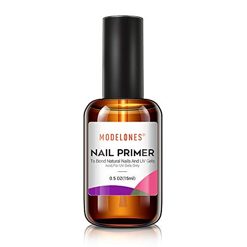 Modelones Professional Natural Nail Bond Primer, Nail Protein Bond, Superior Bonding Primer 0.5 oz 1pcs for Gel Nail Polish, Adhesives UV Gel Polish Tips UV Gel System Manicure Tips Functional Use