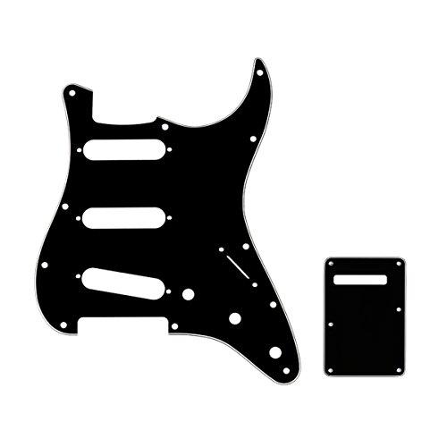 Musiclily SSS Set de Pickguard Golpeador y Placa Trasera Strat para Fender...