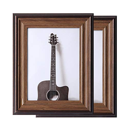 NYKK Wall Gallery Photo Frames Classic Brown Picture Frame Wall Mount & Tabletop Picture Frame, 5' X 7',2 Piece Set Family Picture Frame (Size : 3.5×5')