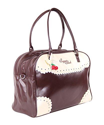 SugarShock Auro Budapester Shopper Handtasche, Farbe:braun - 2