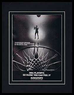 1988 NBA Playoffs on CBS 11x14 Framed ORIGINAL Vintage Advertisement