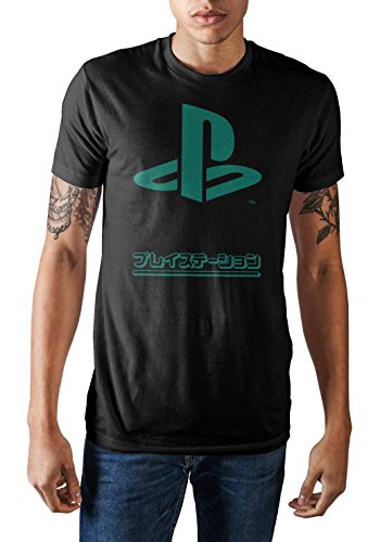 Men's Playstation Specialty Soft Hand Print Shirt-XX-Large Black