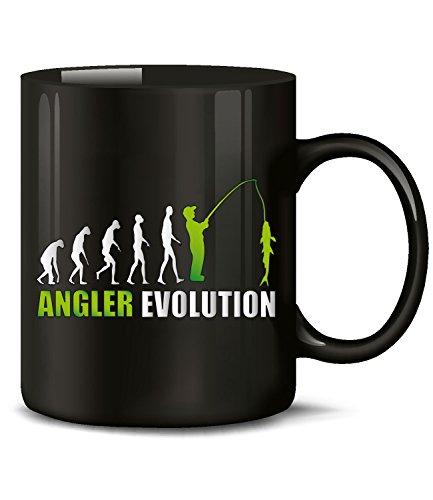 Golebros Angler Evolution 522 Angelsport Angel zubehör Geschenke Geburtstagsgeschenk Weihnachten Papa Fun Tasse Becher Männer Kaffee Kaffeebecher Schwarz-Grün