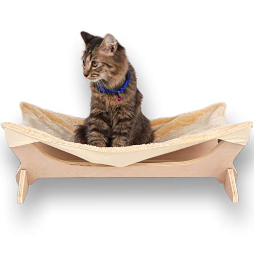 Toby + Atheni Cat Hammock - Perfect Pet Bed for Cats, Seat Or A Perch for Indoor Cats Or Other Small to Medium Home Pets Soft Cat Bed and Small Dog Hammock